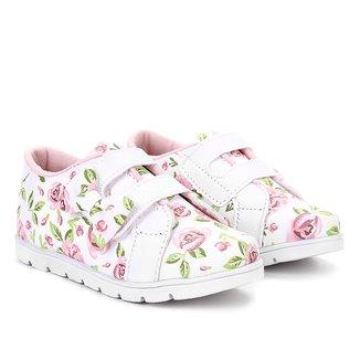 Tênis Bella Ninna Floral Velcro Feminina