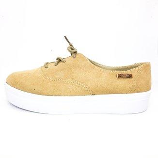Tênis Camurça Quality Shoes Flatform Feminino