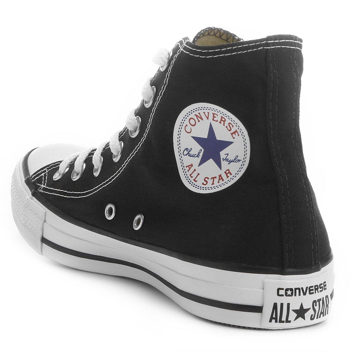 Tênis Cano Alto Converse All Star CT AS HI - Preto e Gelo - Compre ... f2aabbaf7aedc