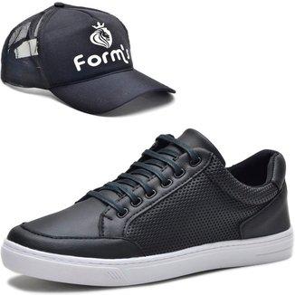 Tênis Cano Baixo Form's + Boné Masculino