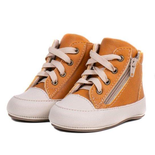 Tênis Carmelo Shoes Bêbe Casual Feminino - Mostarda
