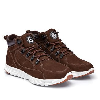 Tênis Casual Masculino Couro Confortável Estilo Sneaker Leve