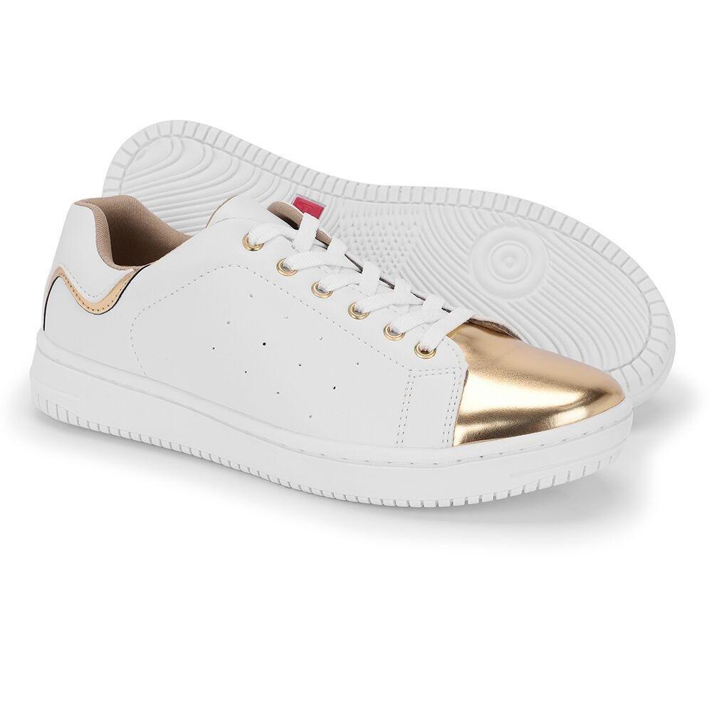 dourado Tênis Casual e Schiareli Casual Tênis Branco Feminino x0UxdZw