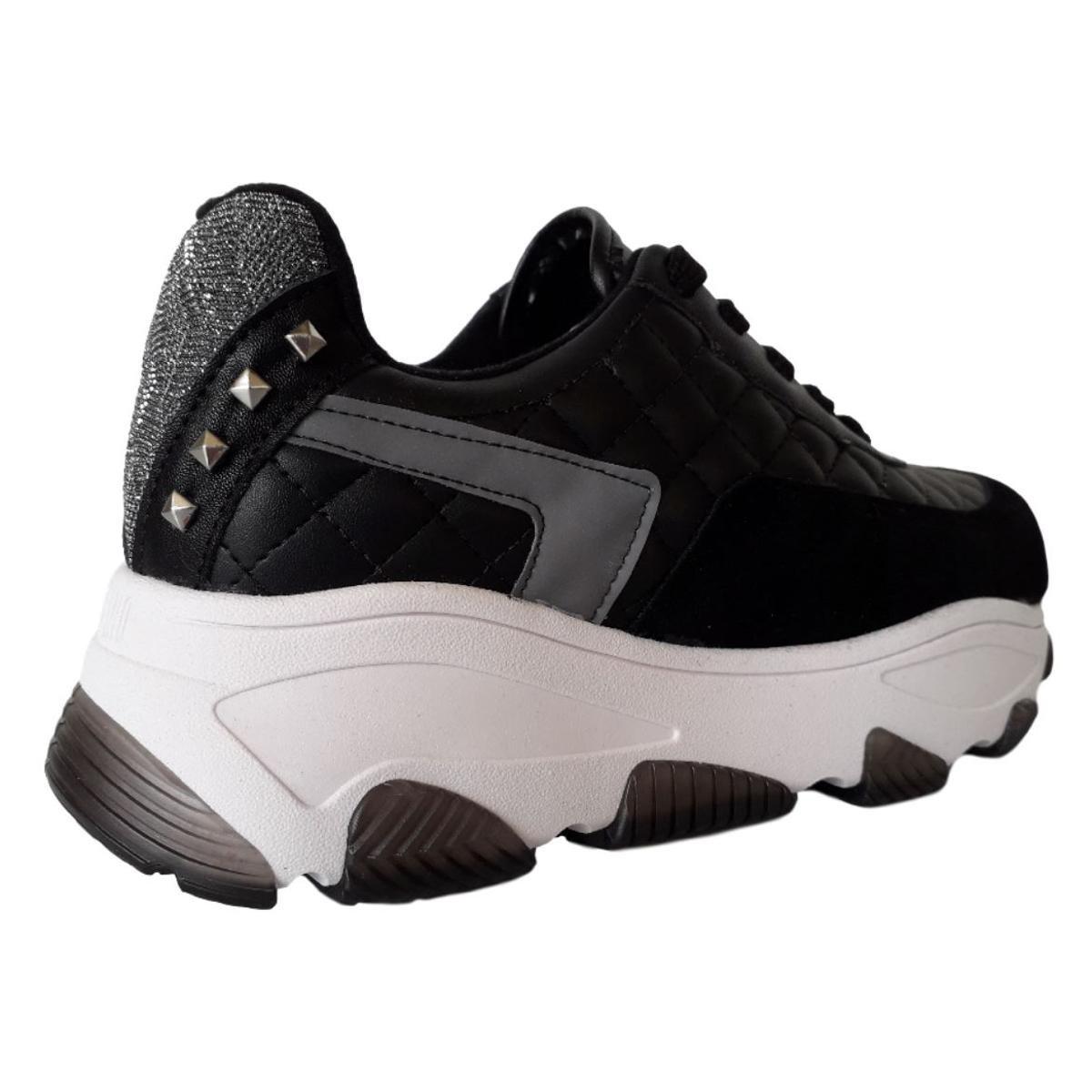 Tênis Chunky Vizzano Plataforma Sneaker Ugly Shoes - Preto
