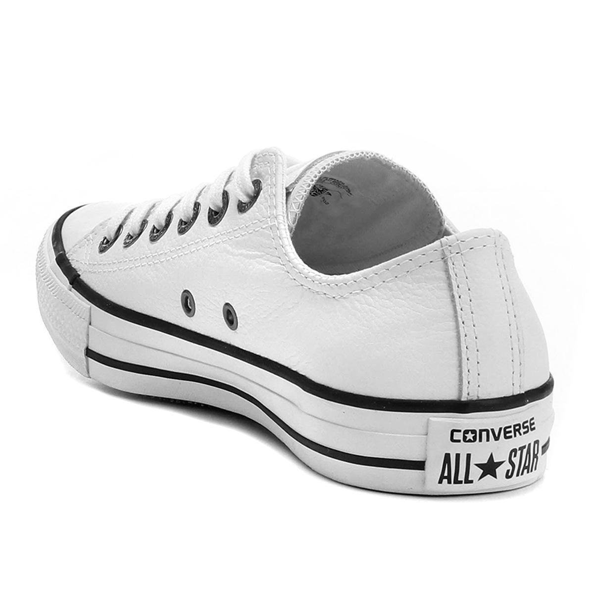 Tênis Converse All Star Chuck Taylor - Branco e Preto - Compre Agora ... 68022624c2106