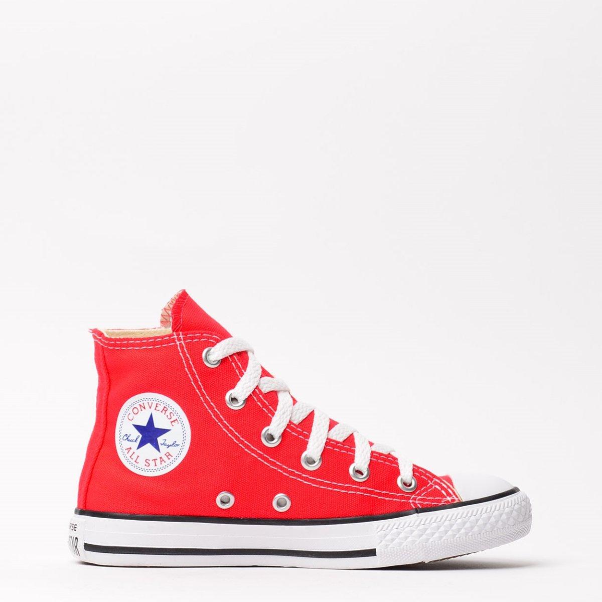 Kids Tênis Vermelho All m Chuck Converse Taylor Hi Star RxXzCqH