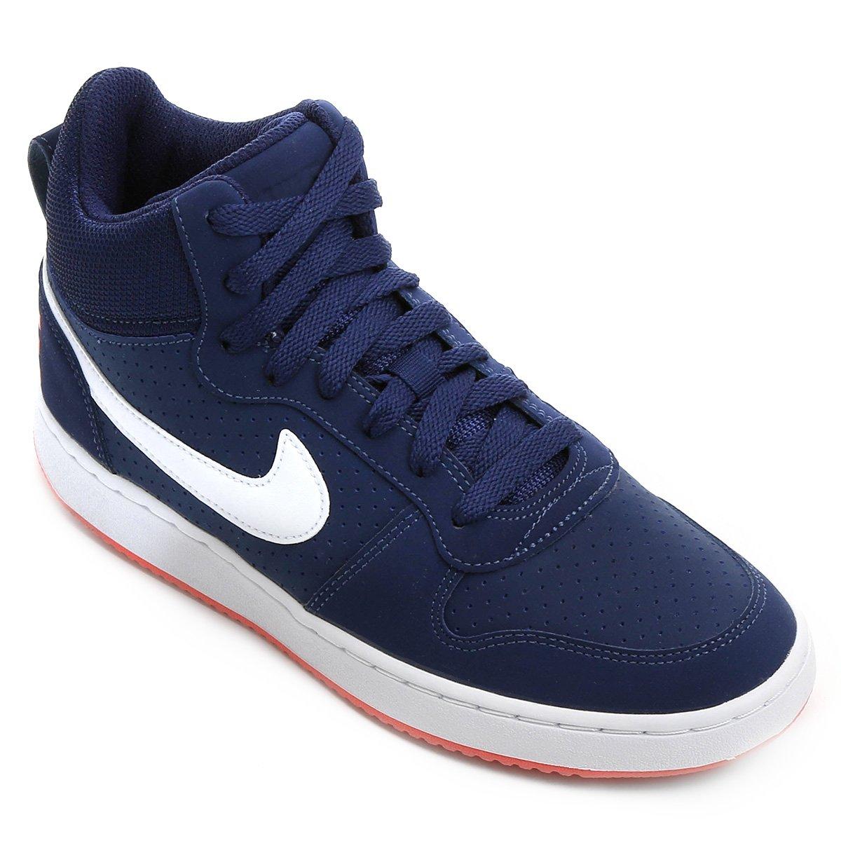 Tênis Couro Cano Alto Nike Recreation Mid Feminino Azul