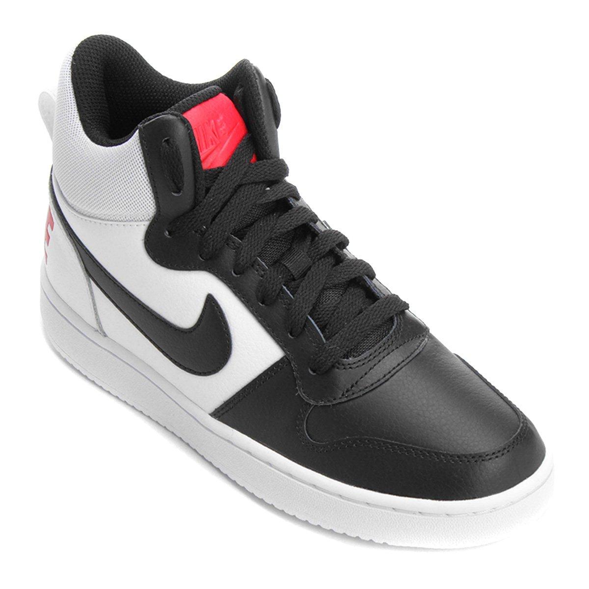 Tênis Couro Cano Alto Nike Recreation Mid Feminino Branco E Vermelho
