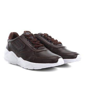 Tênis Couro Cavalera Chunky Sneaker Jean Masculino