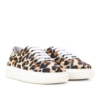 Tênis Couro Santa Lolla Big Leopard Feminino