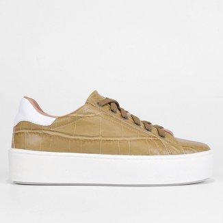 Tênis Couro Shoestock Croco Feminino