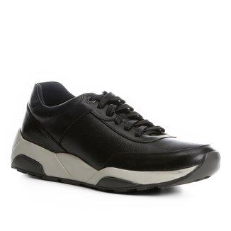 Tênis Couro Shoestock Jogging Sola Alta Masculino