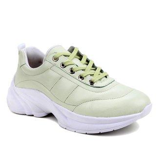 Tênis Couro Shoestock Lace Feminino