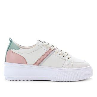 Tênis Couro Shoestock Multicolor Feminino
