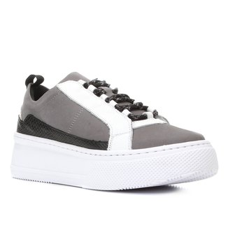 Tênis Couro Shoestock Nobuck Feminino