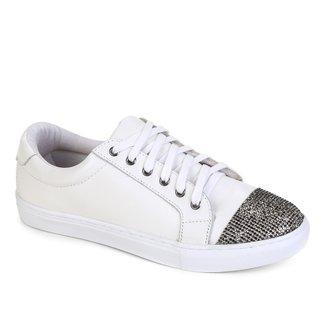Tênis Couro Shoestock Soft Crystal Feminino
