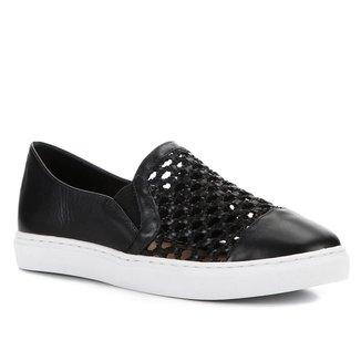 Tênis Couro Shoestock Tramado Feminino