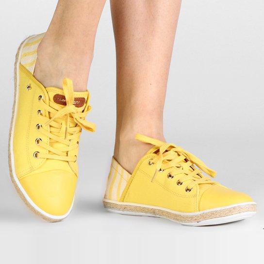Tênis Cravo & Canela Corda - Amarelo
