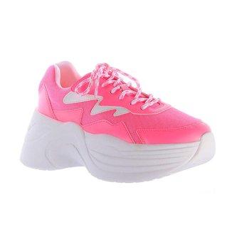 Tênis Damannu Shoes Chunky Jasmine Neon Feminino