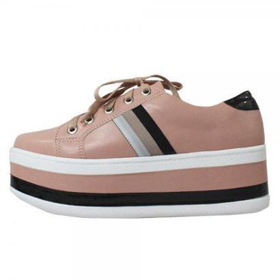 Tênis Damannu Shoes Flatform Becky Rosa San