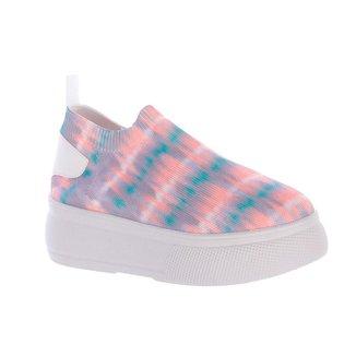 Tênis Damannu Shoes Meia Joy Tie Dye Feminino