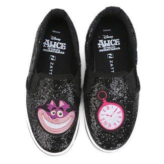 Tênis Disney Slip on Alice Infantil