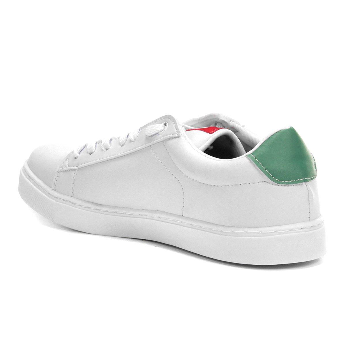 6083cf20b2 Tênis Ecko Court Masculino - Branco e Verde - Compre Agora