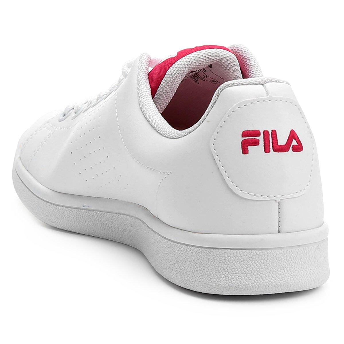 Tênis Fila Field Feminino - Branco e Rosa - Compre Agora  032b14e575460