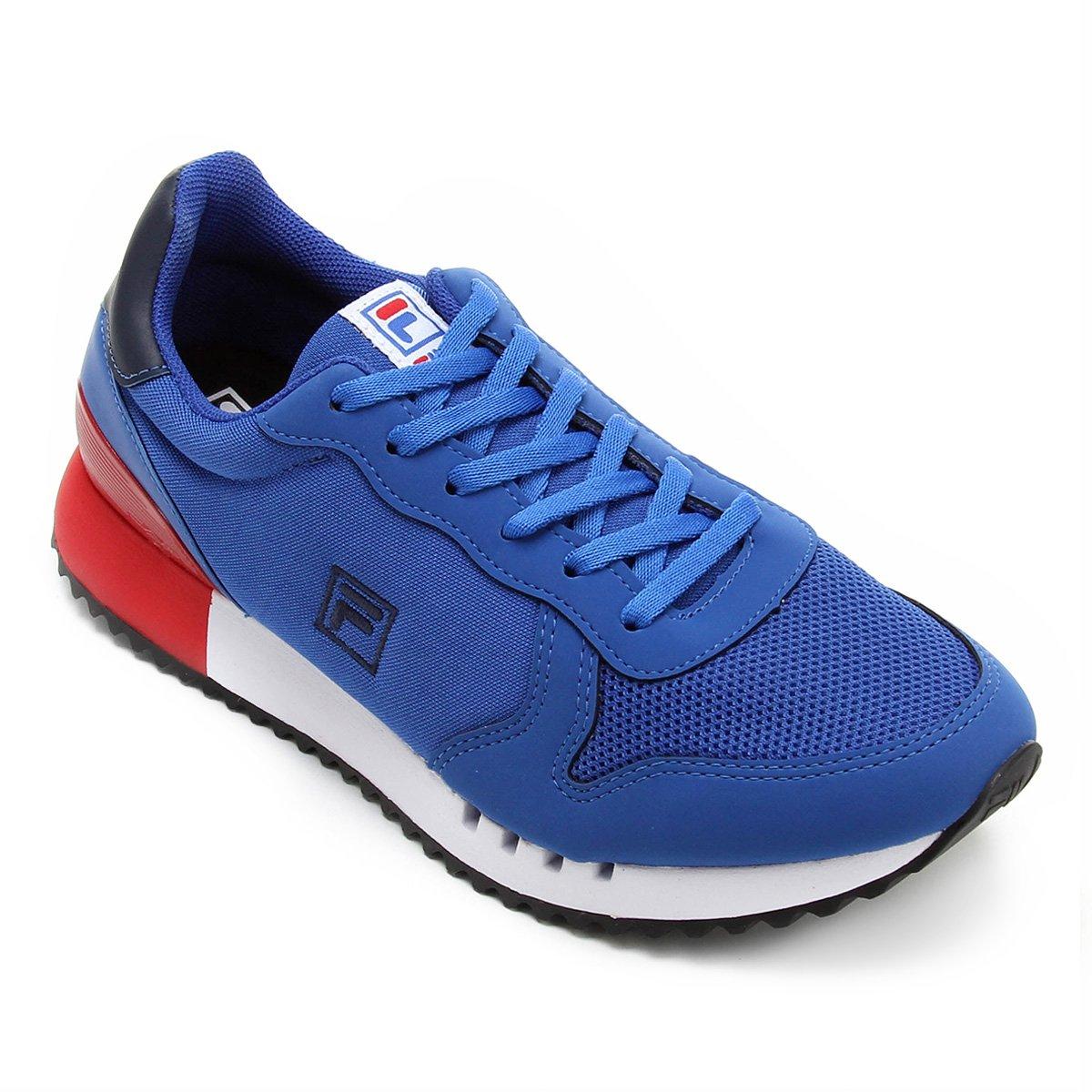 2e11d9948f0 Tênis Fila Retrô Runner Masculino - Azul e Marinho - Compre Agora ...