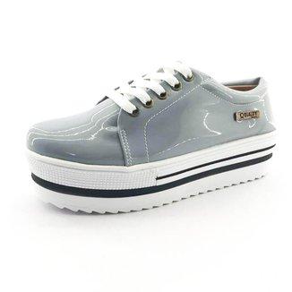 Tênis Flatform Quality Shoes Verniz  Sola Alta Feminino