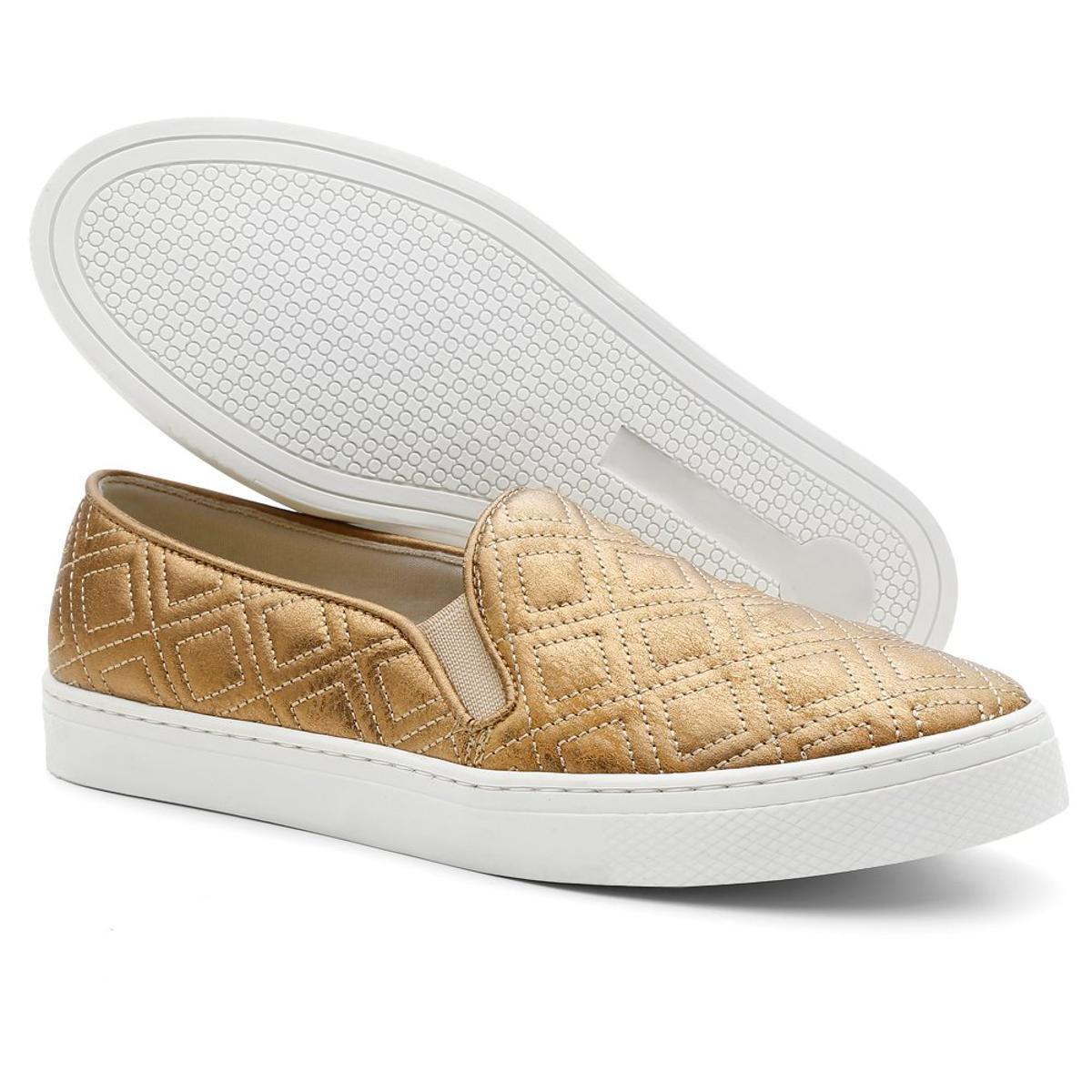 Tenis Hiate Top Franca Shoes  Feminino - Dourado
