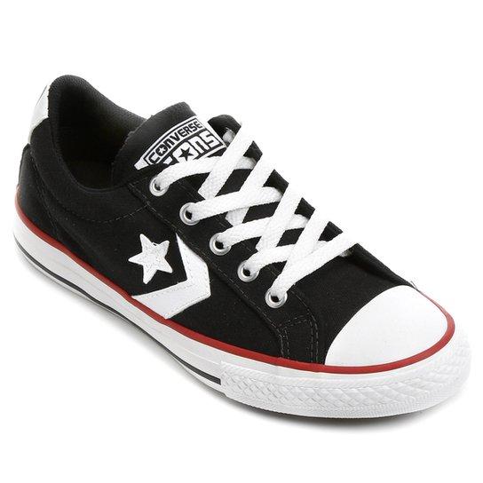 Tênis Infantil Converse All Star Player - Preto e Vermelho