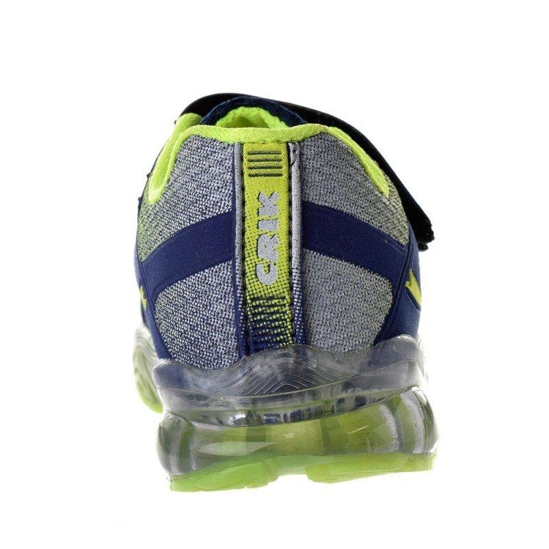 Crik Luz com Luz Infantil Crik Azul Tênis Tênis Infantil e amarelo com UBw0Y