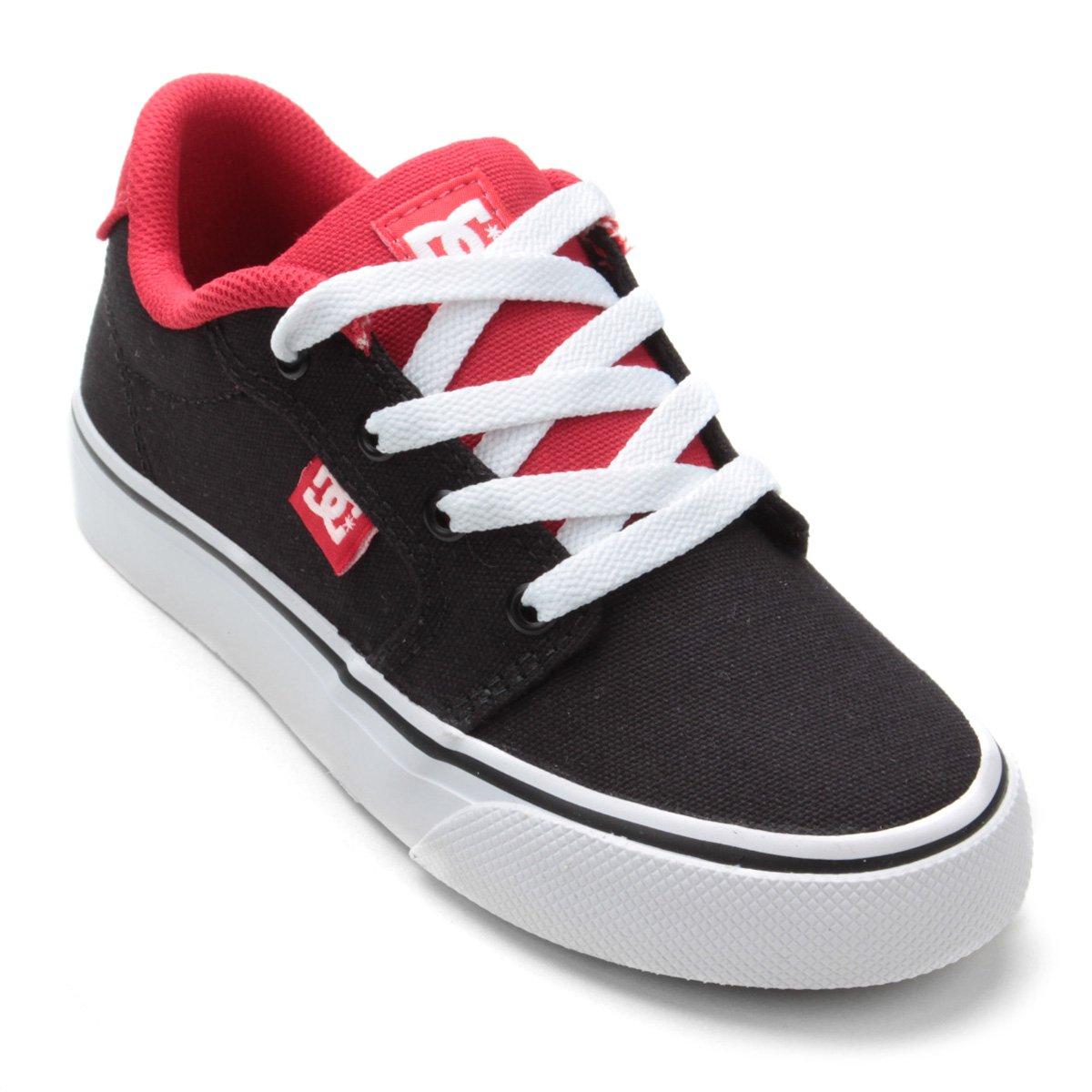 42014f68ba ... Tênis Infantil DC Shoes Anvil Tx La Masculino - Preto e Vermelho .