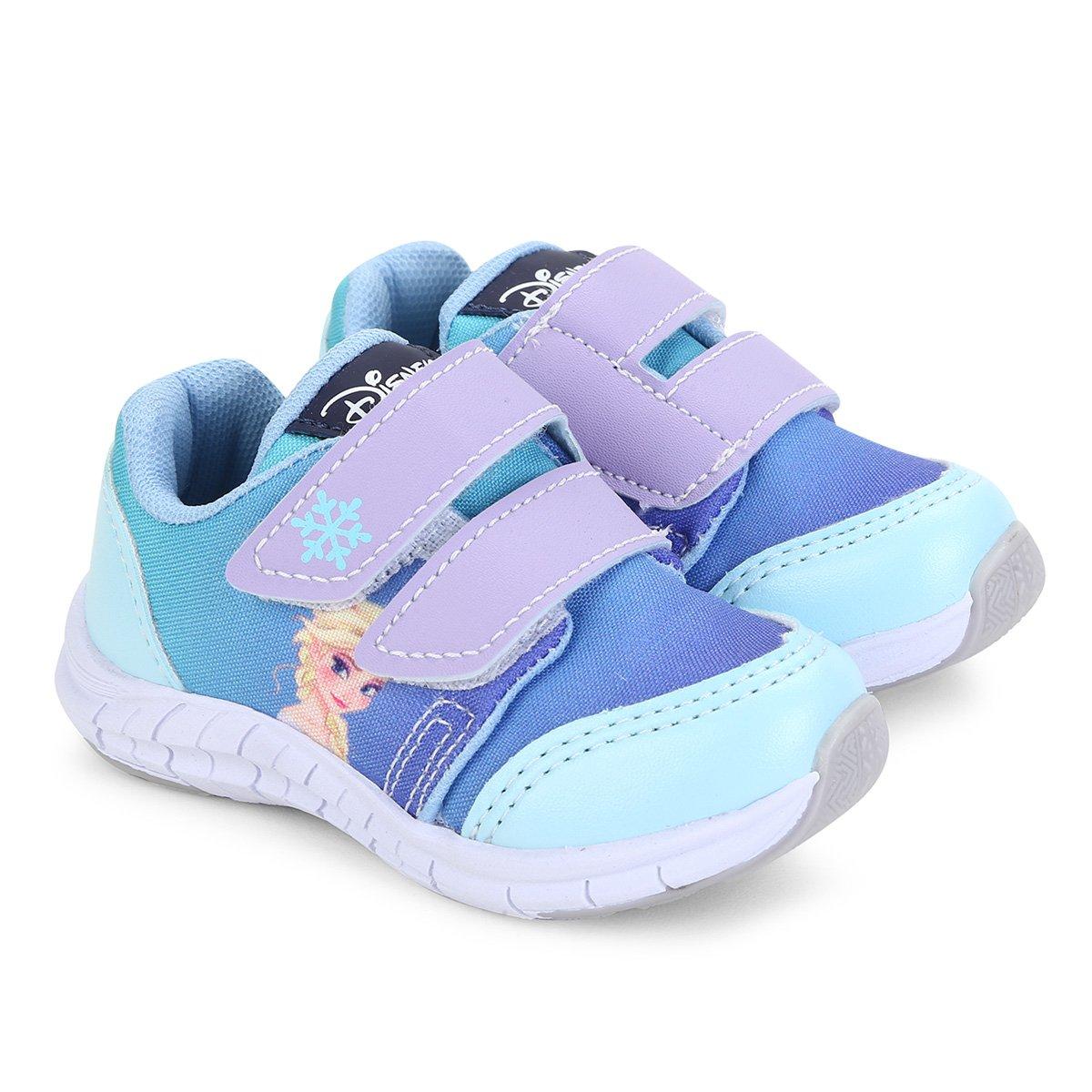 cb525805cce1b Menor preço em Tênis Infantil Disney com Velcro Frozen Feminino - Azul Claro