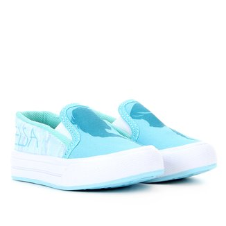 Tênis Infantil Disney Slip On Frozen Feminino
