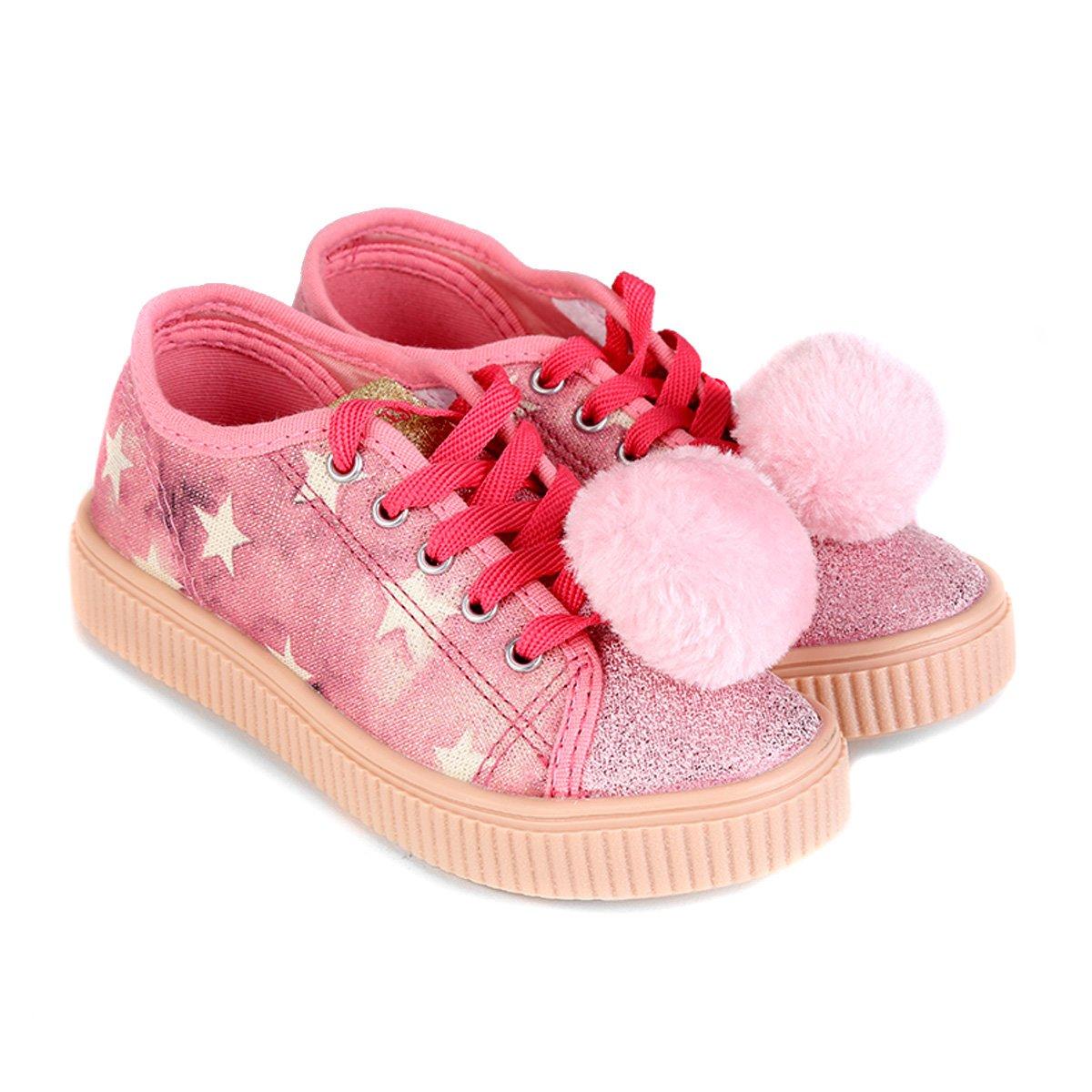 Tênis Infantil Diversão Fashion Princesas Feminino - Rosa - Compre Agora  11454296246