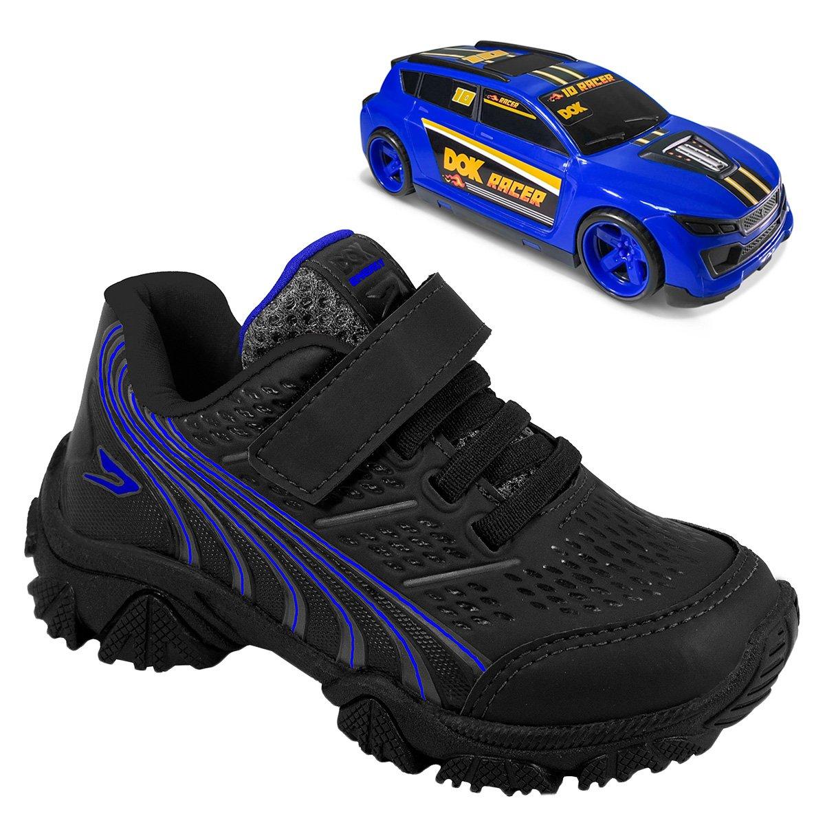 Tênis infantil Dok com carro de brinquedo