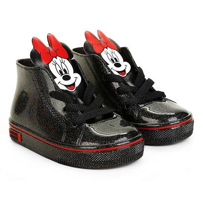 Tênis Infantil Grendene Kids Cano Alto Minnie Mickey