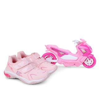Tênis Infantil Kidy Play + Mini Moto Feminino