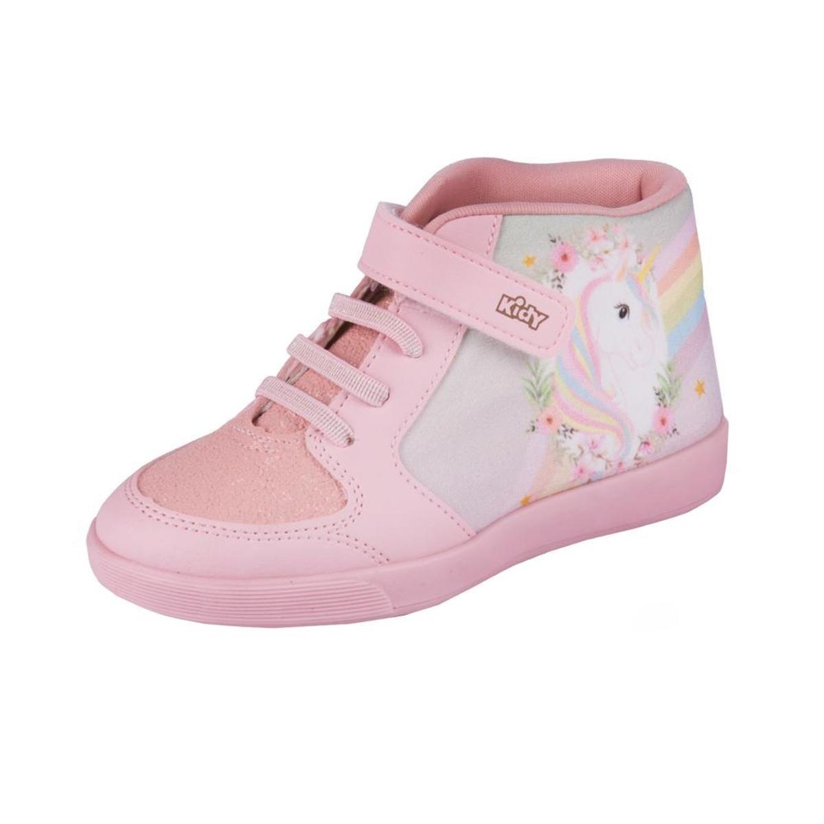 dc3addee2f5 Tênis Infantil Kidy Unicornio Love Feminino - Rosa - Compre Agora ...