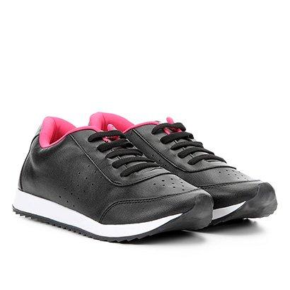 2e3f850f01f Tênis Infantil Klassipé Missy Teen Escolar Feminino - Preto e Pink - Compre  Agora