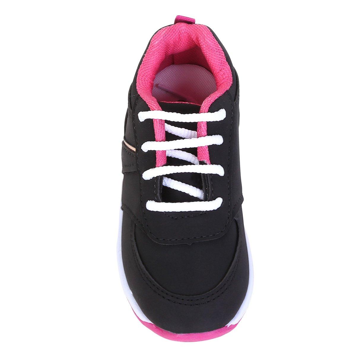 79b3ba705db Tênis Infantil Kurz Color Feminino - Preto e Pink - Compre Agora ...