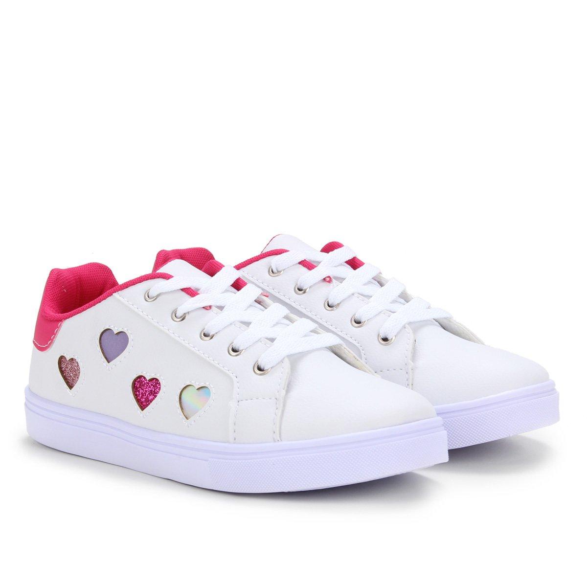 Tênis infantil Kurz Corações Colors Girls