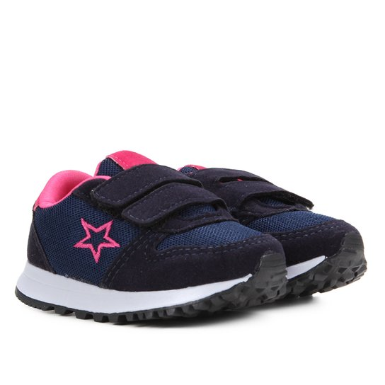 Tênis Infantil Kurz Jogger Pump Masculino - Marinho+Pink
