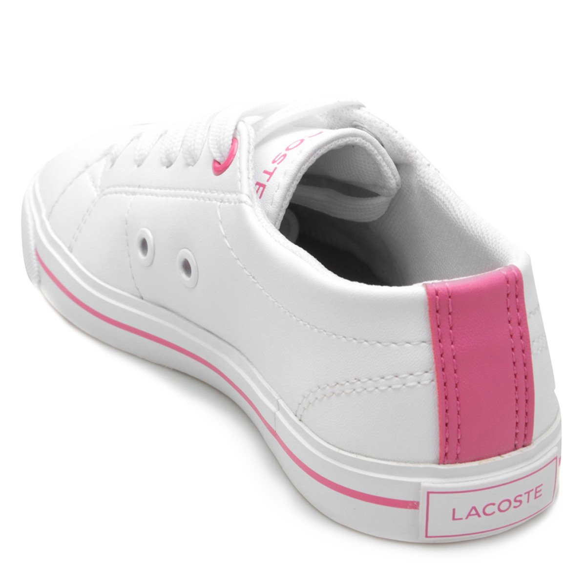 Tênis Infantil Lacoste Riberac - Branco e Rosa - Compre Agora   Zattini 86925b5b93