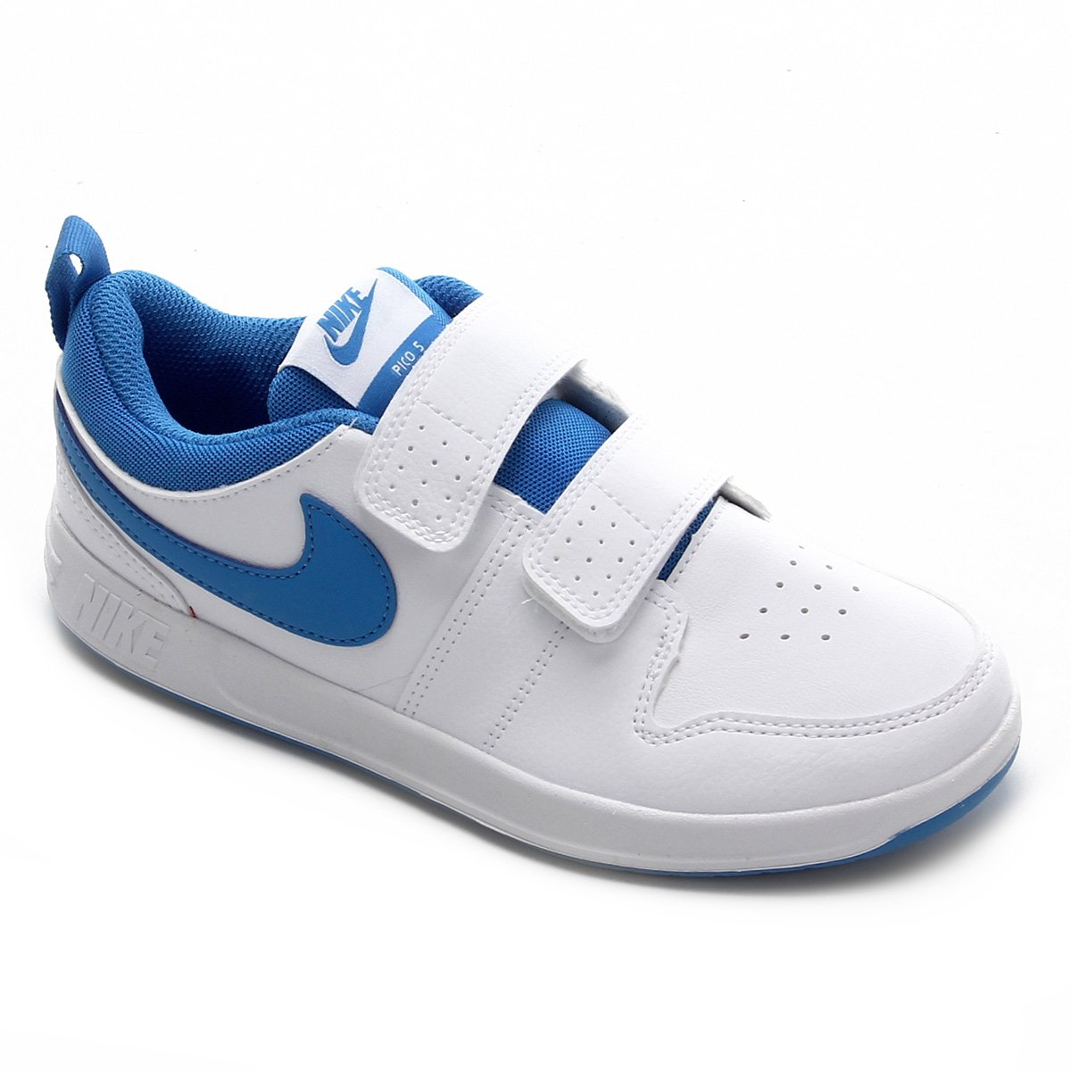 pimienta Porque internacional  Tênis Infantil Nike Pico 5 PSV - Branco e Azul | Zattini