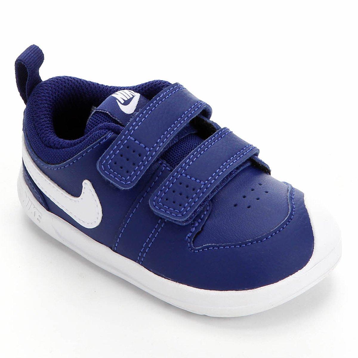 linda Humilde Monet  Tênis Infantil Nike Pico 5 - Azul Royal e Branco | Zattini