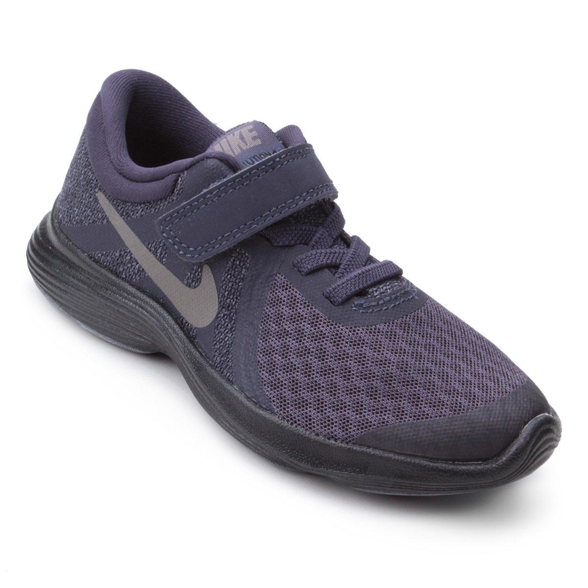 06312bb9a8 Tênis Infantil Nike Revolution 4 Masculino - Preto e Cinza - Compre ...