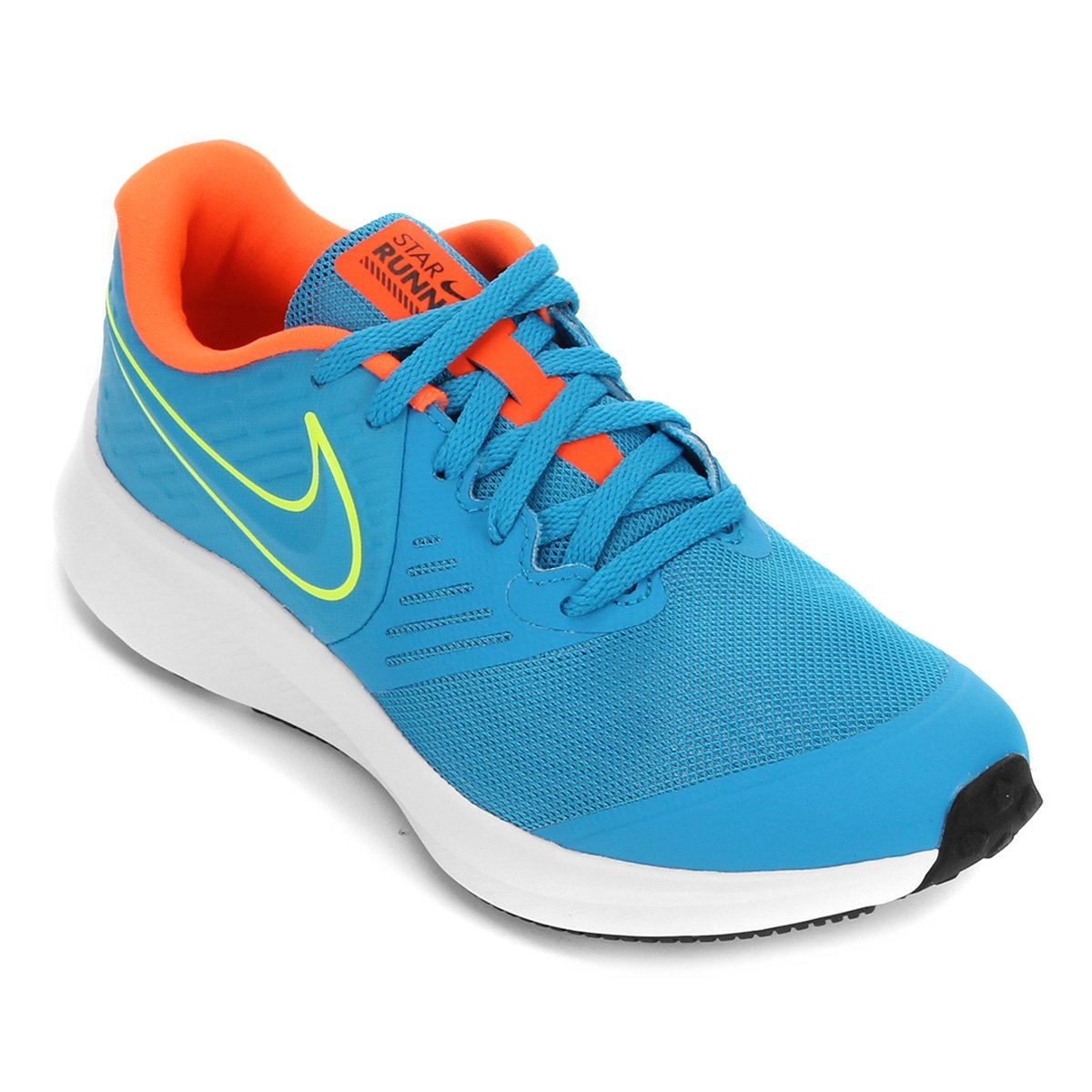 Carteles arco Miseria  Tênis Infantil Nike Star Runner 2 Gs - Azul e Verde   Zattini